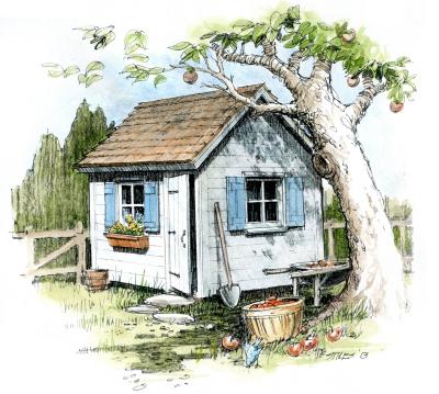 Custom Designs U0026 Illustrations * A Few Design Examples * Architectural  Renderings * Custom Designs * Backyard Buildings * Treehouse U0026 Playhouse  Design