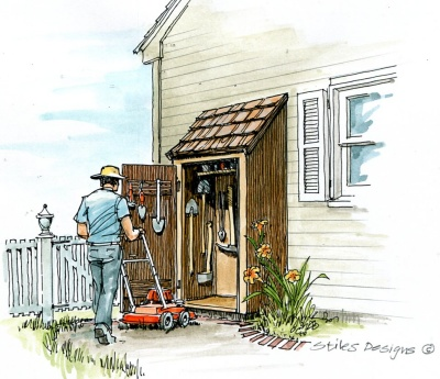 Simple Garden Tool Shed